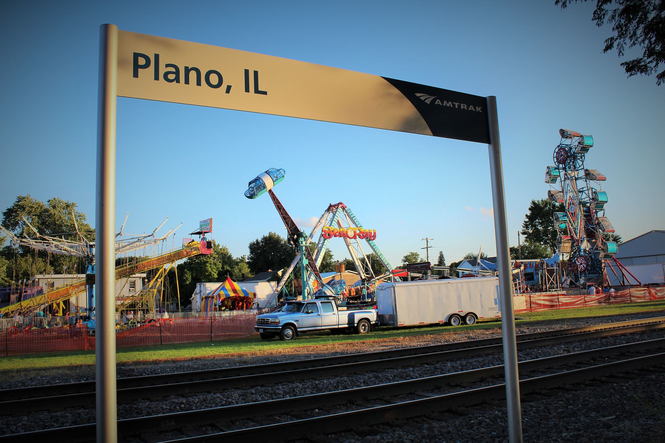 Fairgrounds in Plano, IL by Mike Wade